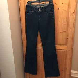 Paige hidden hills dark blue flare jeans sz 28